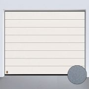 Sektionaltor LPU 40 Sandgrain M Sicke Weiss 180x180 - Tore