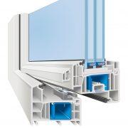 weru afino one AD profilschnitt 180x180 - Fenster